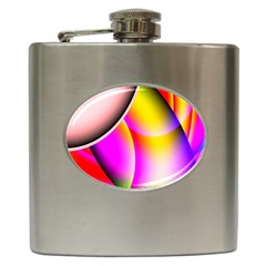 Colorful 1 Hip Flask (6 Oz) by timelessartoncanvas
