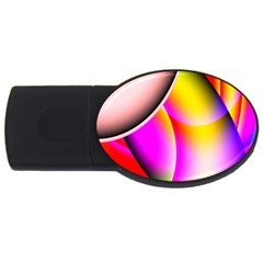 Colorful 1 Usb Flash Drive Oval (4 Gb)  by timelessartoncanvas