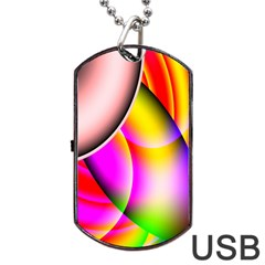 Colorful 1 Dog Tag Usb Flash (two Sides)  by timelessartoncanvas