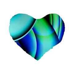 New 2 Standard 16  Premium Flano Heart Shape Cushions by timelessartoncanvas