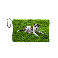 Pit Bull T Bone Puppy Canvas Cosmetic Bag (s) by ButThePitBull