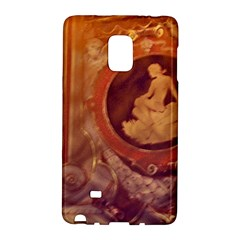 Vintage Ladies Artwork Orange Galaxy Note Edge by BrightVibesDesign