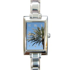 Tropical Palm Tree  Rectangle Italian Charm Watch by BrightVibesDesign