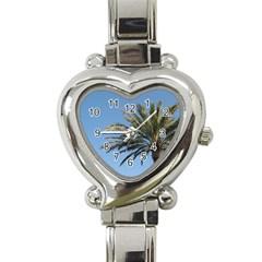 Tropical Palm Tree  Heart Italian Charm Watch by BrightVibesDesign