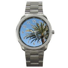 Tropical Palm Tree  Sport Metal Watch by BrightVibesDesign