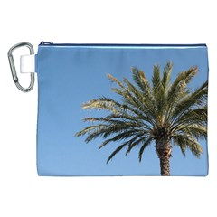 Tropical Palm Tree  Canvas Cosmetic Bag (xxl)  by BrightVibesDesign