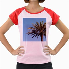 Tropical Palm Tree  Women s Cap Sleeve T-Shirt by BrightVibesDesign