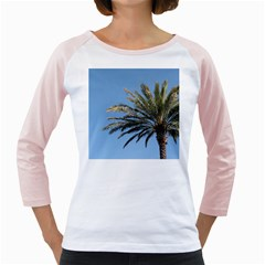 Tropical Palm Tree  Girly Raglans by BrightVibesDesign