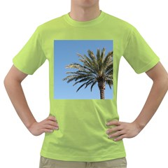 Tropical Palm Tree  Green T Shirt by BrightVibesDesign