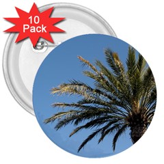 Tropical Palm Tree  3  Buttons (10 Pack)  by BrightVibesDesign