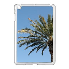 Tropical Palm Tree  Apple iPad Mini Case (White) by BrightVibesDesign