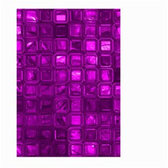 Glossy Tiles,purple Large Garden Flag (Two Sides) by MoreColorsinLife