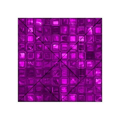 Glossy Tiles,purple Acrylic Tangram Puzzle (4  x 4 ) by MoreColorsinLife