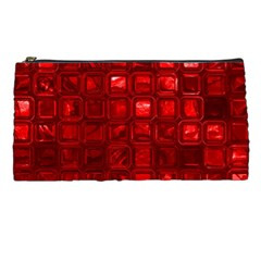 Glossy Tiles,red Pencil Cases by MoreColorsinLife