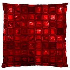 Glossy Tiles,red Large Cushion Case (two Sides) by MoreColorsinLife