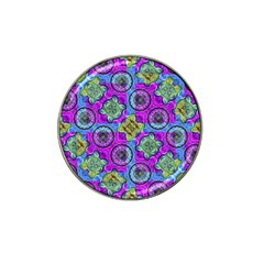 Collage Ornate Geometric Pattern Hat Clip Ball Marker (4 Pack) by dflcprints
