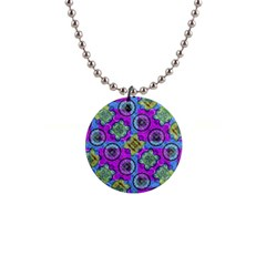 Collage Ornate Geometric Pattern Button Necklaces by dflcprints