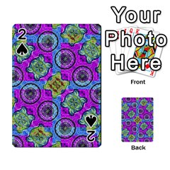 Collage Ornate Geometric Pattern Playing Cards 54 Designs  by dflcprints