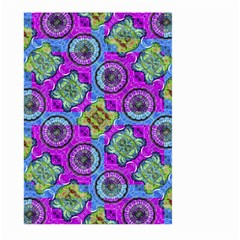 Collage Ornate Geometric Pattern Large Garden Flag (two Sides) by dflcprints