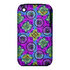 Collage Ornate Geometric Pattern Apple iPhone 3G/3GS Hardshell Case (PC+Silicone) by dflcprints