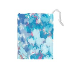 Abstract #2 Drawstring Pouches (medium)  by Uniqued