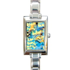 Abstract #4 Rectangle Italian Charm Watch by Uniqued