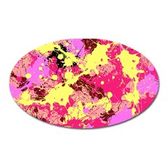 Abstract #11 Oval Magnet by Uniqued