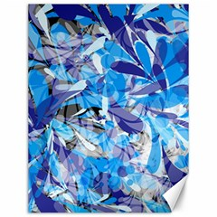 Abstract Floral Canvas 12  X 16   by Uniqued