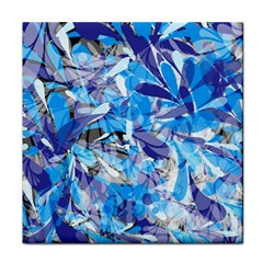 Abstract Floral Face Towel by Uniqued
