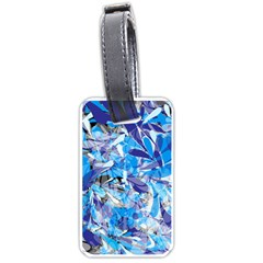Abstract Floral Luggage Tags (one Side)  by Uniqued
