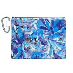 Abstract Floral Canvas Cosmetic Bag (XL)  by Uniqued
