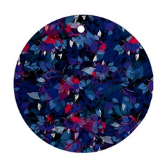 Abstract Floral #3 Round Ornament (two Sides)  by Uniqued