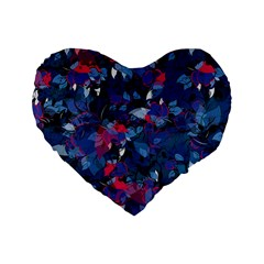 Abstract Floral #3 Standard 16  Premium Heart Shape Cushions by Uniqued