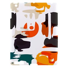 Shapes In Retro Colors On A White Background apple Ipad 3/4 Hardshell Case by LalyLauraFLM