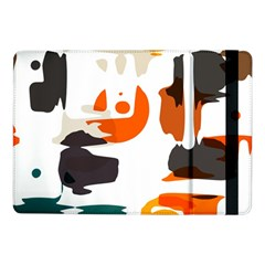 Shapes In Retro Colors On A White Background samsung Galaxy Tab Pro 10 1  Flip Case by LalyLauraFLM