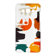 Shapes In Retro Colors On A White Background samsung Galaxy A5 Hardshell Case by LalyLauraFLM