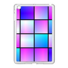 Gradient Squares Pattern  			apple Ipad Mini Case (white) by LalyLauraFLM
