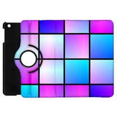 Gradient Squares Pattern  			apple Ipad Mini Flip 360 Case by LalyLauraFLM