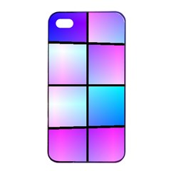 Gradient Squares Pattern  			apple Iphone 4/4s Seamless Case (black) by LalyLauraFLM