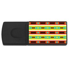 Rhombus Stripes And Other Shapes usb Flash Drive Rectangular (4 Gb) by LalyLauraFLM