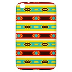 Rhombus Stripes And Other Shapes 			samsung Galaxy Tab 3 (8 ) T3100 Hardshell Case by LalyLauraFLM