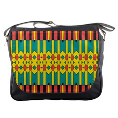 Shapes And Stripes  			messenger Bag by LalyLauraFLM