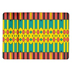 Shapes And Stripes  			samsung Galaxy Tab 10 1  P7500 Flip Case by LalyLauraFLM