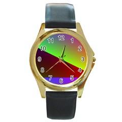 New 8 Round Gold Metal Watch by timelessartoncanvas