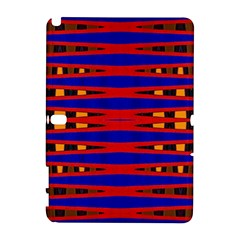 Bright Blue Red Yellow Mod Abstract Samsung Galaxy Note 10.1 (P600) Hardshell Case by BrightVibesDesign