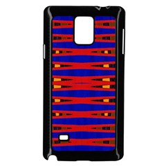 Bright Blue Red Yellow Mod Abstract Samsung Galaxy Note 4 Case (Black) by BrightVibesDesign