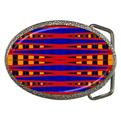Bright Blue Red Yellow Mod Abstract Belt Buckles by BrightVibesDesign