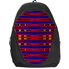 Bright Blue Red Yellow Mod Abstract Backpack Bag by BrightVibesDesign