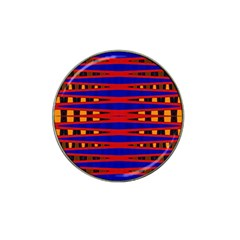 Bright Blue Red Yellow Mod Abstract Hat Clip Ball Marker (4 Pack) by BrightVibesDesign