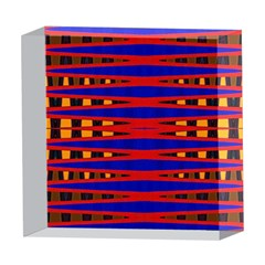 Bright Blue Red Yellow Mod Abstract 5  x 5  Acrylic Photo Blocks by BrightVibesDesign